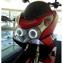 Headlight Unit Xenon 6000K Angel Eyes Honda PCX 125/150 v1 v2