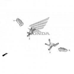 Support Repose Pied Arrière Gauche Honda PCX 125 v1 (2010-2011-2012) 50716-KWN-900