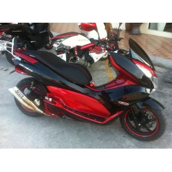 Seat KAN Black Matt Red Stitching Honda PCX 125/150 v1 v2
