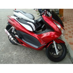 Seat KAN Type2 Black and White Honda PCX 125/150 v1 v2