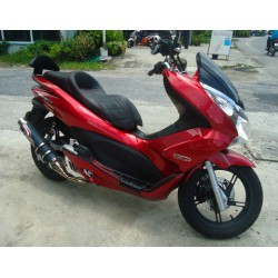 Seat NOI Carbon Checkered Red Stitching Honda PCX 125/150 v1 v2