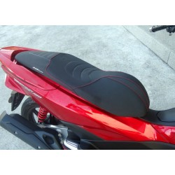 Seat KAN Black Matt Red Stitching Honda PCX 125/150 v3 (2014-2015-2016-2017)